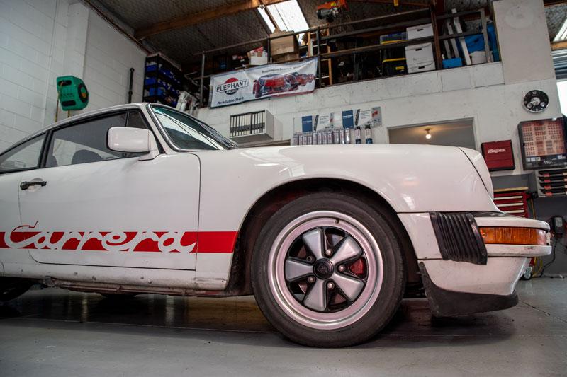 White Porsche Carrera