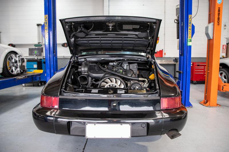 Rear Engine of Porsche