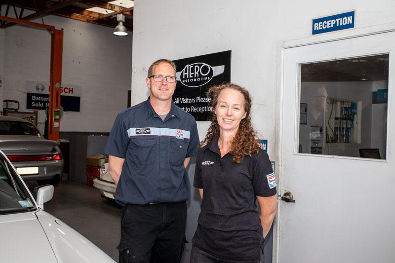 Aero Automotive Mechanic and Owner Stuart and Administrator Bridget